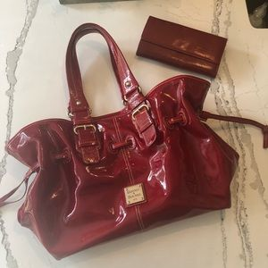 Dooney and Bourke Red Patten Bag